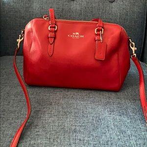 Red Coach bag.